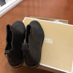 Michael Kors booties in dark brown